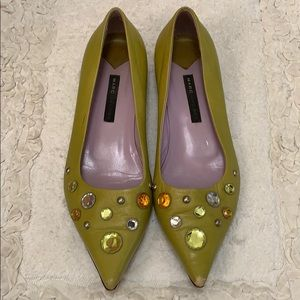 Marc Jacobs Green flats with jewels sz 37